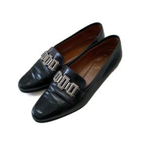 Bally Vintage Square Accent Leather Loafer